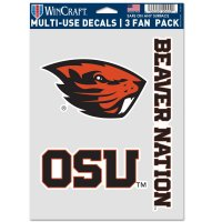Oregon State Beavers 3 Fan Pack Decals