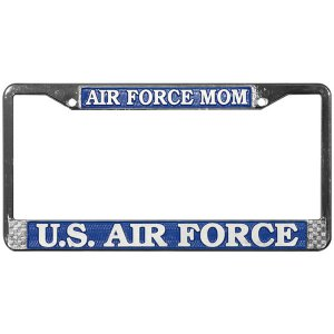 U.S. Air Force Mom Chrome License Plate Frame