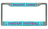 Biggest Loser #2 Fantasy Football Chrome License Plate Frame