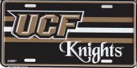 UCF Knights Metal License Plate