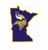 Minnesota Vikings Home State Vinyl Sticker