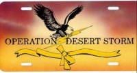 Operation Desert Storm Photo Plate