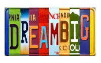 DREAMBIG Cut Style Metal Art License Plate