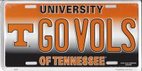 GOVOLS Tennessee Vols Metal License Plate