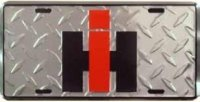 International IH Diamond Plate License Plate