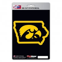 Iowa Hawkeyes Die Cut State Decal