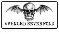 Avenged Sevenfold Logo Photo License Plate