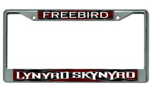 Lynyrd Skynyrd Freebird Chrome License Plate Frame