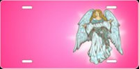 Angel (Pink) License Plate
