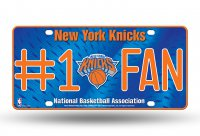 New York Knicks #1 Fan Metal License Plate