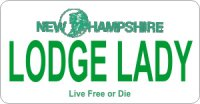 Design It Yourself New Hampshire State Look-Alike Bicycle Plate