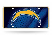 San Diego Chargers Metal License Plate