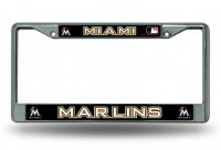 Miami Marlins Chrome License Plate Frame