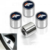 Denver Broncos Chrome Valve Stem Caps
