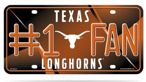 Texas Longhorns #1 Fan Metal License Plate