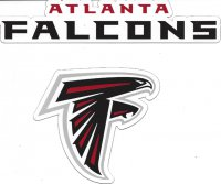 Atlanta Falcons 2pc Team Magnet Set