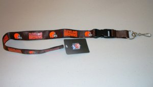 Cleveland Browns Lanyard With Safety Fastener