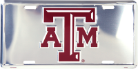 Texas A&M Anodized Metal License Plate