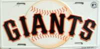 San Francisco Giants (White) License Plate