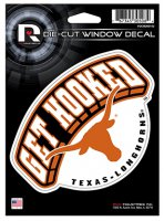 Texas Longhorns Get Hooked Die Cut Vinyl Decal