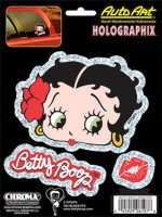 Betty Boop Halographix Decal Set