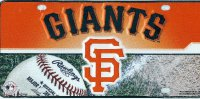 San Francisco Giants Metal License Plate