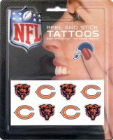 Chicago Bears 8-PC Peel and Stick Tattoo Set