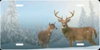 """Winter Deer"" Airbrush License Plate"