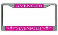Avenged Sevenfold Breast Cancer Chrome License Plate Frame
