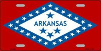 Arkansas State Flag Metal License Plate