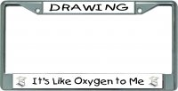 Drawing … Chrome License Plate Frame