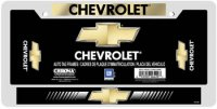 Chevrolet Domed Metal License Plate Frame