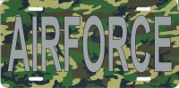 Air Force Camouflage Photo License Plate