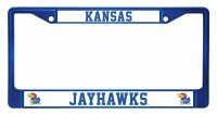 Kansas Jayhawks Anodized Blue License Plate Frame