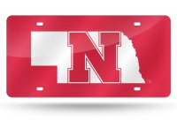 Nebraska Cornhuskers Red Laser License Plate