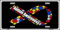 Autism Awareness Ribbon Metal License Plate