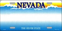 Nevada State Background Metal License Plate