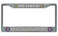 Retired Royal Canadian Air Force Chrome License Plate Frame