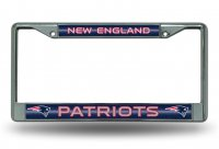 New England Patriots Glitter Chrome License Plate Frame