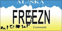 Design It Yourself Alaska State Look-Alike Bicycle Plate #2