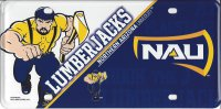 Northern Arizona Lumberjacks Metal License Plate