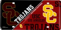 Southern California Trojans Metal License Plate