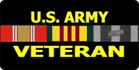 U.S. Army Veteran Ribbon Photo License Plate