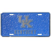 Kentucky Wildcats Mosaic Metal License Plate