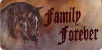 Family Forever Horses Photo License Plate
