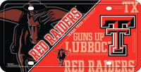 Texas Tech Red Raiders Metal License Plate