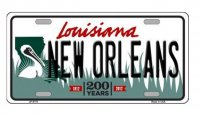 New Orleans Louisiana Metal License Plate