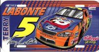 Terry Labonte #5 Plastic License Plate