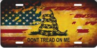 Gadsden / U.S. Flag Don't Tread License Plate