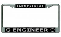 Industrial Engineer Chrome License Plate Frame